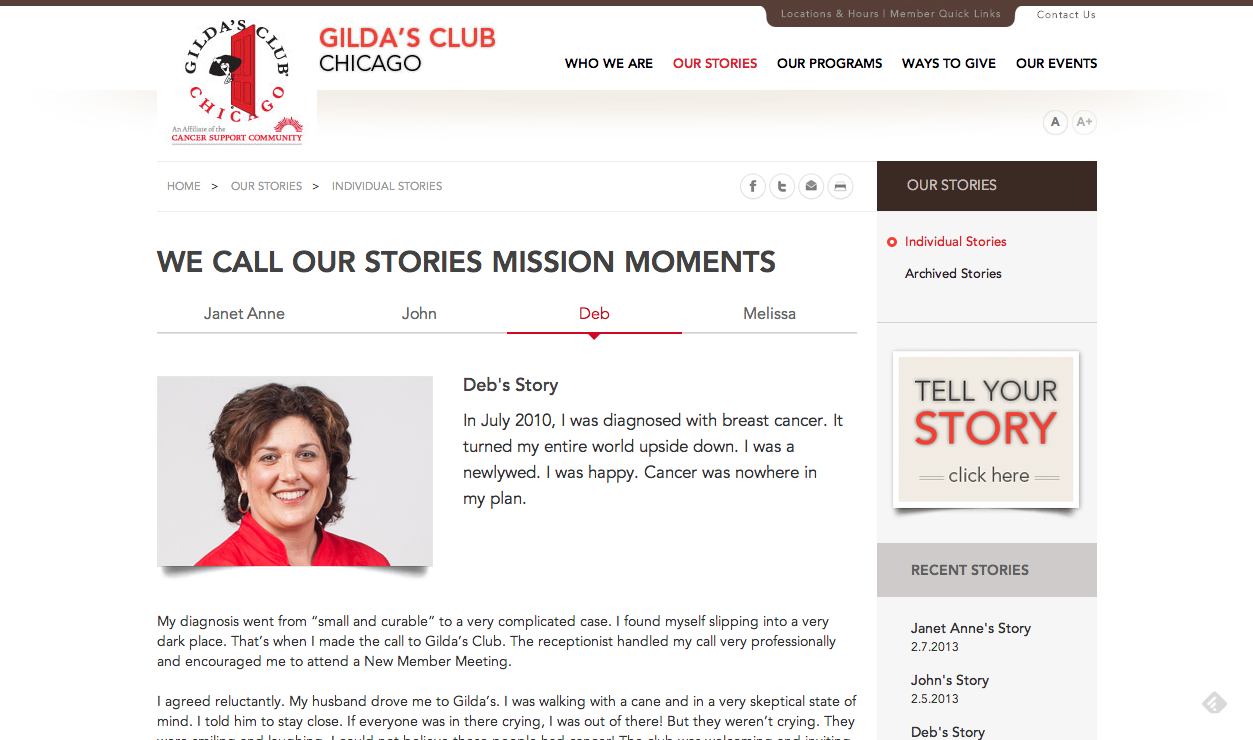 Our Stories   Gilda s Club Chicago