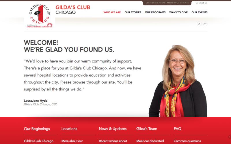 Gilda's Club Website