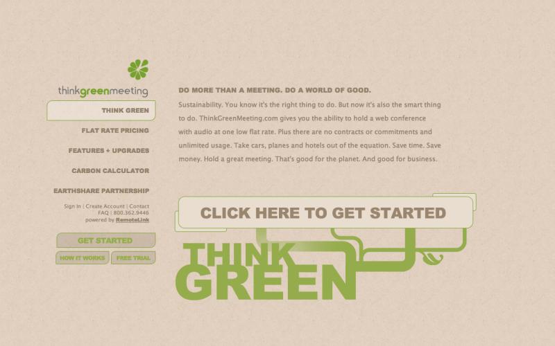 Think Green Meeting Website
